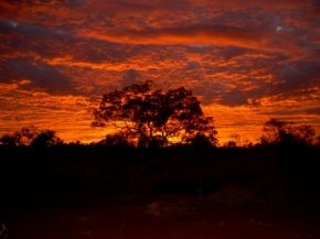Beautiful sunset over Karijini
